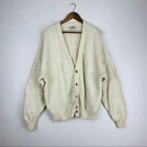 Jantzen Vintage Chunky Cardigan Ivory Size XL